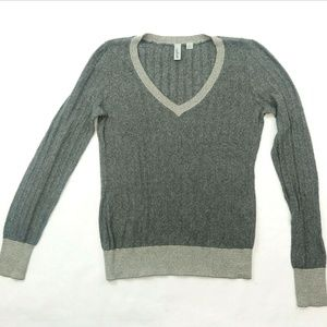 Nordstrom Rack Caslon Gray stripped fashion knit M